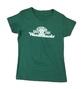 Women's Green & White T-Shirt